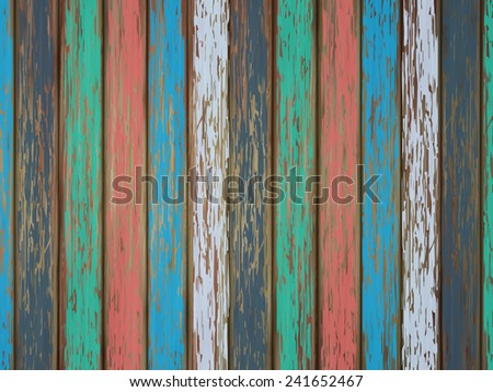 close-up look at colorful painted wooden background
