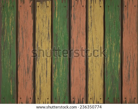 close-up look at colorful retro wooden texture background