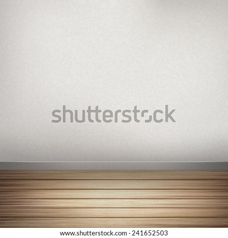 close-up look at empty interior wall with wooden floor