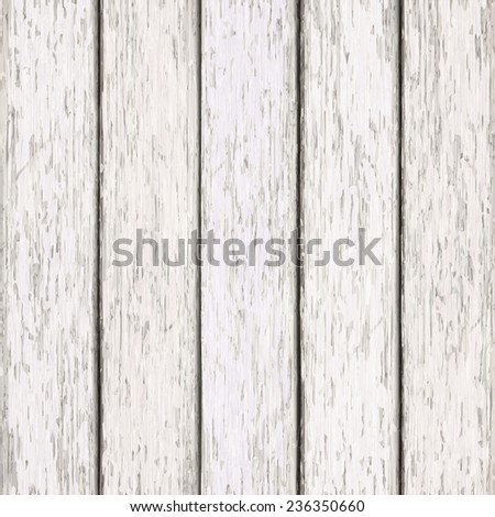 close-up look at retro white wooden texture background  - stock vector