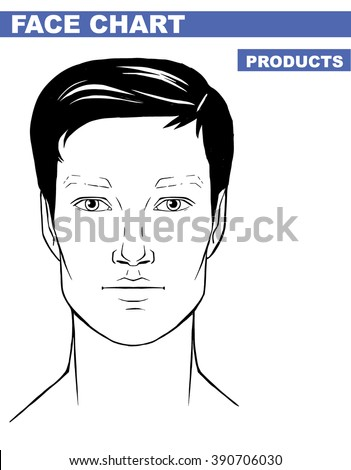 Close Man Portrait Makeup Artist Blank Stock Vector 390706030 ...