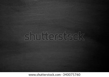 Close up of clean school blackboard. Chalk rubbed out on black horizontal chalkboard. Blackboard or chalkboard texture. Vector illustration. Grunge background. - stock vector