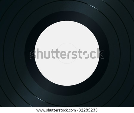 Close-up of gramophone record. High-detailed vector artwork.