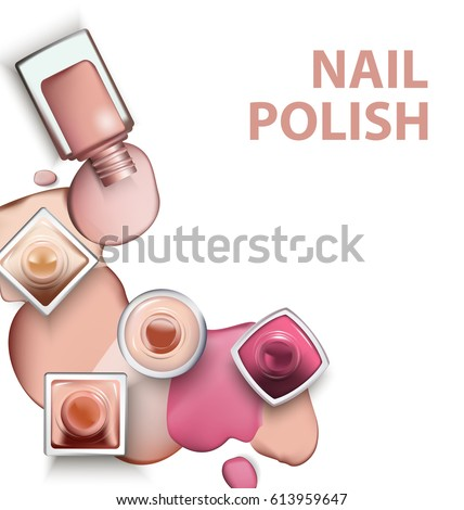Close Nail Polish Drops Nail Polish Stock Vector Royalty Free