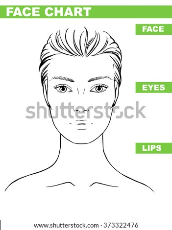 Close Woman Portrait Makeup Artist Blank Stock Vector 373322476 ...