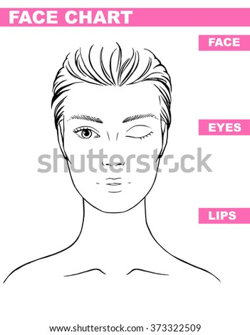 Close woman portrait makeup artist blank stock vector 373322509 close up woman portrait makeup artist blank template face chart vector illustration pronofoot35fo Gallery