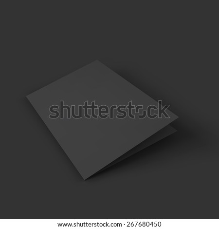 Closed black booklet. Business mockup template. Presentation of your branding and identity design. Vector Illustration EPS10. - stock vector