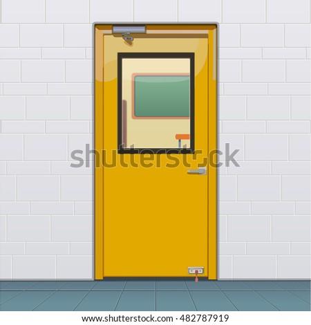 classroom door. Closed Classroom Door H