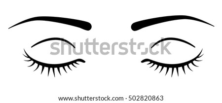 closed eyes eyelashes stock vector 502820863 shutterstock rh shutterstock com eye vector free download eye vector image