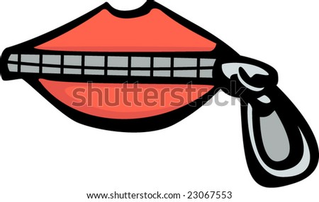 Stock Vector Closed Lips on Zip Your Mouth Clip Art