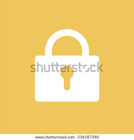 Closed lock icon. Security icon. - stock vector