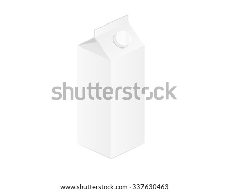 closed milk bottle on white background, isolated