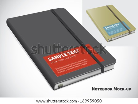 closed notebook mock-up. vector illustration - stock vector