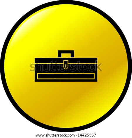closed toolbox button - stock vector