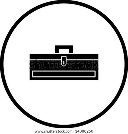 closed toolbox symbol - stock vector
