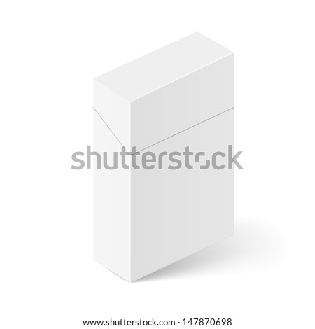Closed White Pack of cigarettes. Illustration on white background for creative design - stock vector