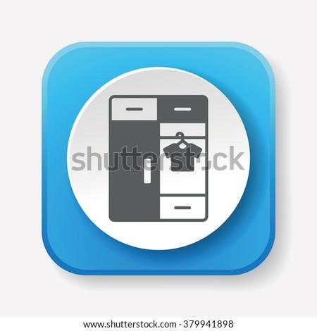 closet cabinet icon - stock vector