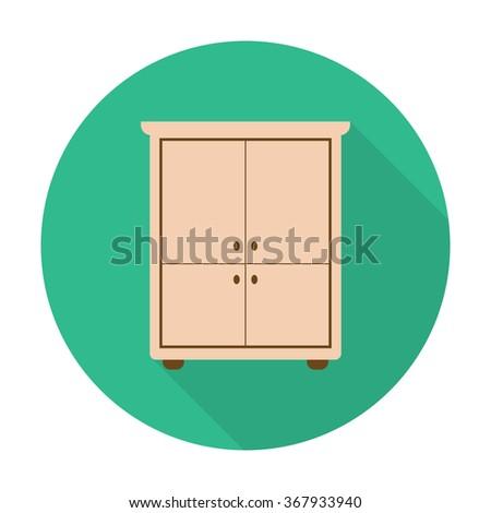 Closet Icon Vector. - stock vector