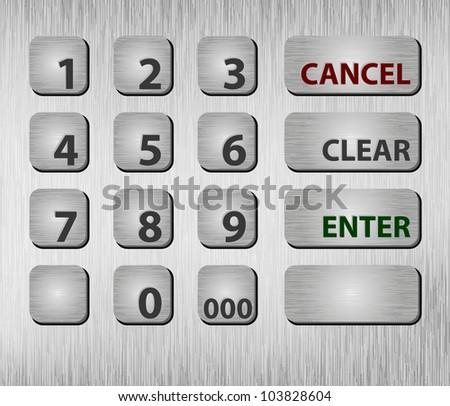 Closeup ATM buttons. Eps8 only. Vector illustration. Conten?ts seamless - stock vector