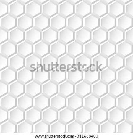 Closeup 3d white texture. Seamless vector pattern. - stock vector