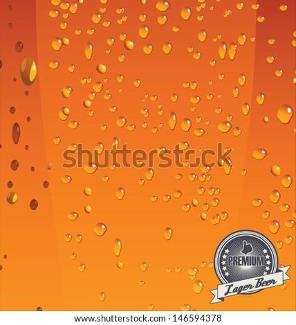 Closeup of beer vector - stock vector