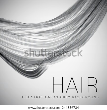 Closeup of long human hair - stock vector