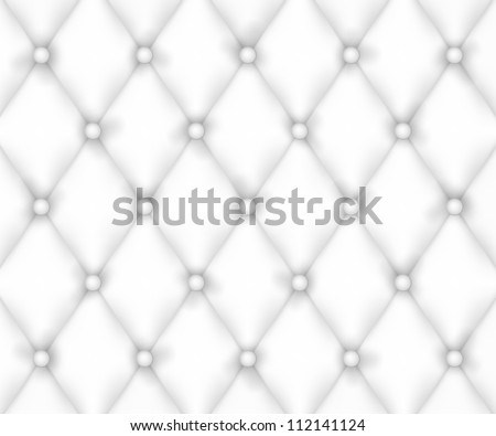 Closeup realistic leather upholstery texture. Eps 10 vector illustration. Used meshes object - stock vector