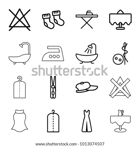 Iron table symbol stock images royalty free images vectors cloth icons set of 16 editable outline cloth icons such as restaurant table baby urtaz Gallery
