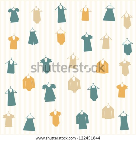 Cloth seamless pattern - stock vector