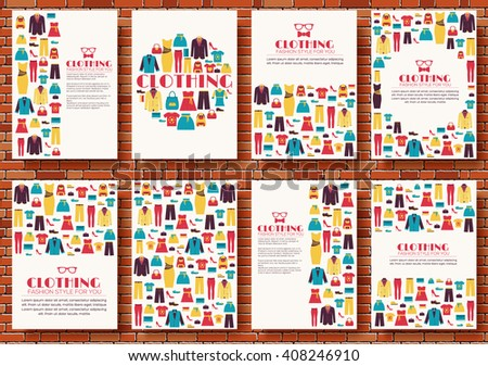 cloth vector shopping icons banners, magazines, flayers, invintation cards concept - stock vector