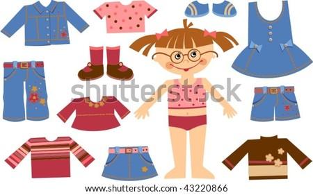 clothes - stock vector
