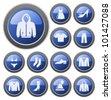 Clothes button set - stock vector