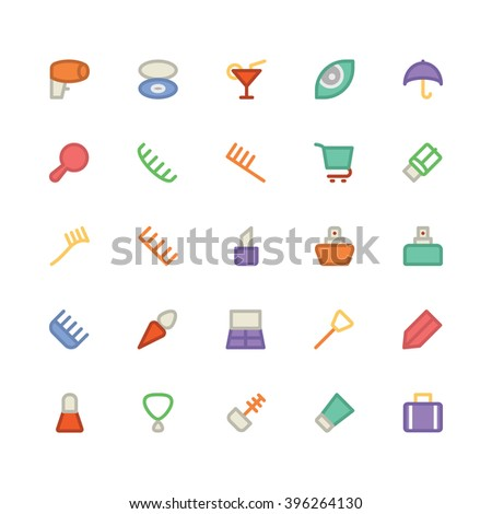 Clothes flat bold Vector Icons 15
