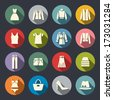 Clothes flat icons - stock vector