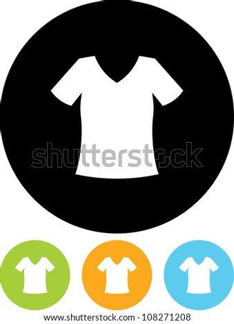 Clothes for women. T-shirt - Vector icon isolated - stock vector