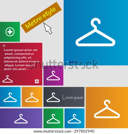 clothes hanger icon sign. buttons. Modern interface website buttons with cursor pointer. Vector illustration - stock vector
