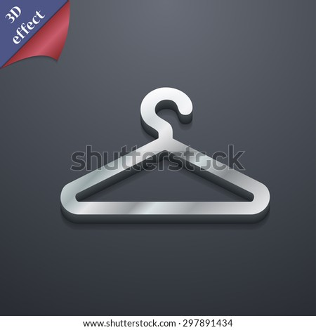 clothes hanger icon symbol. 3D style. Trendy, modern design with space for your text Vector illustration - stock vector