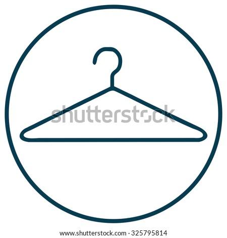 Clothes Hanger Icon, Vector Illustration.  - stock vector
