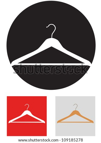 Clothes hanger. Vector icon