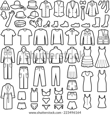 Clothes icon collection - vector illustration - stock vector
