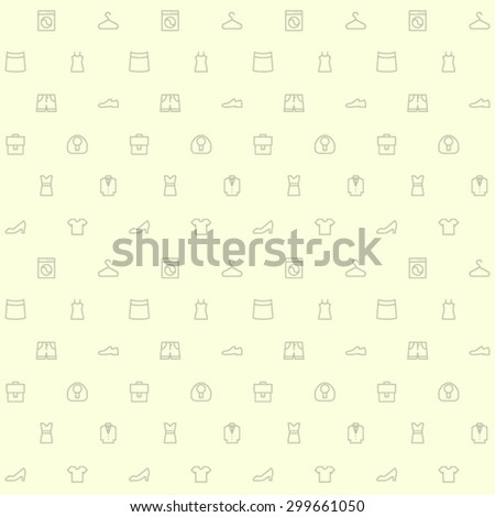 clothes line icon beige pattern - stock vector