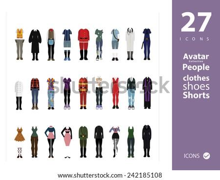 clothes set 1 - stock vector