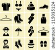 Clothes Store Icons - stock vector