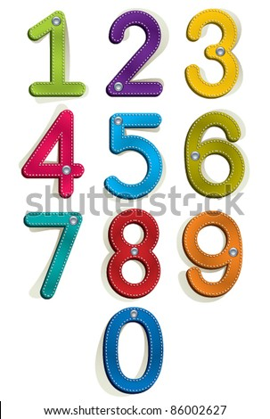 Clothes style numbers set. - stock vector