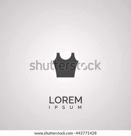 clothing icon. clothing logo - stock vector