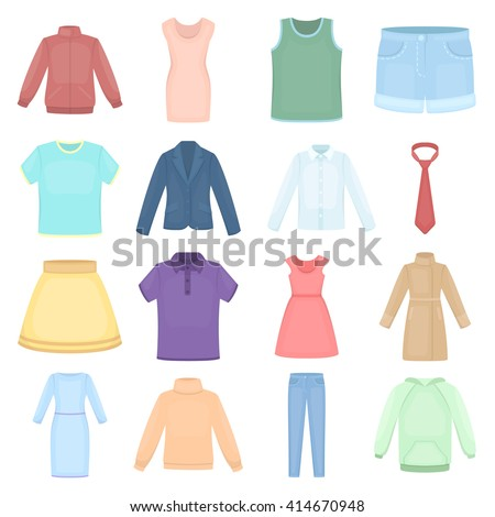 Clothing icons set.  - stock vector