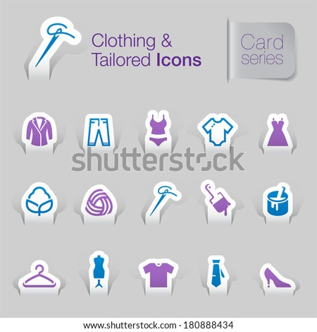 Clothing related icons. - stock vector