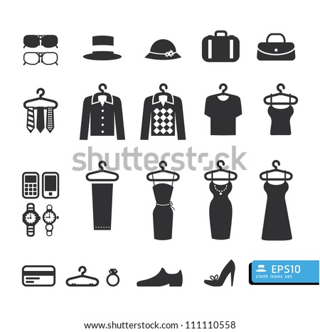 Clothing Store Icon vector - stock vector