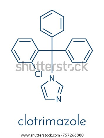 Clotrimazole antifungal drug molecule used treatment stock vector clotrimazole antifungal drug molecule used in treatment of athletes foot ringworm vaginal yeast ccuart Image collections