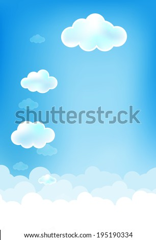 Cloud and blue sky vector background - stock vector